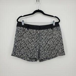 Express Editor Herringbone Printed Shorts Sz 8